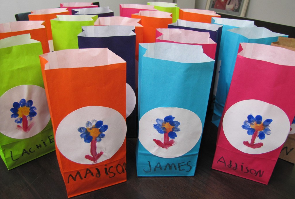 Colourful party bags